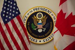 Canada's Premiers/les premiers ministres des provinces et territoires meet with/rencontrent USTR/représentant américain au commerce Robert Lighthizer, DPM/vice-première ministre Chrystia Freeland and A. Ambassador/ambassadeur intérimaire Kirsten Hillman
