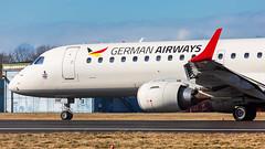German Airways (mairmaximilian) Tags: germanairways german airways embraer e190 e190lr landing runway flughafenmemmingen memmingen planespotter spotter planespotting