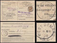 British Columbia / B.C. Postal History / Acknowledgment of Receipt Postcard - 6 / 10 November 1928 - Regina, Saskatchewan to WEST DEMARS, B.C. (split ring / broken circle cancel / postmark) (Treasures from the Past) Tags: circulardatestamp postalwayoffice postmaster postoffice britishcolumbia postalhistory bc county splitring brokencircle splitcircle postmark cancel cancellation marking son mail letter stamp canada britishcolumbiapostalhistory canadapost westdemars regina jamesalbertcross everettbrucejonah robertwallacehugg gordonwforbes dehoy danieledwardhoy ameliakarsten acknowledgmentofreceipt