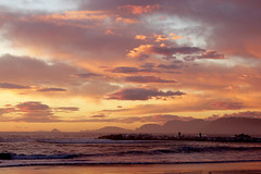 Paesaggio di mare (Darea62) Tags: sea seascape sky skyscape sunset tramonto clouds beach shore sonyalpha77 rocks people nature cielo outside mare marinadimassa italy toscana