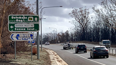Signs of Fire. Sizzled Signage (Doug Ingram) Tags: bushfires climatechange fires highway newsouthwales princeshighway rfs ruralfireservice shoalhaven signs southcoastnsw summer20192020 sussexinlet wandandian australia