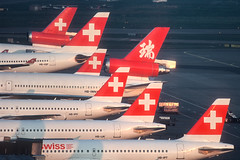 Swiss Fleet gathering in 2003 (BOSCHH) Tags: hbiwn hbiqf hbipt swiss airbus a330 a330200 a320200 md11 zurich airport kloten general military civil aviation aviationdaily aviationgeek canon fighter fighterjet flight fly air force airline airplane helicopter jet photo photography photos pilot plane planespotting sky spotting cockpit hbipv hbijk