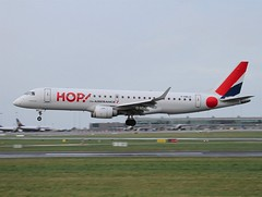 HOP                                   Embraer E190                                       F-HBLD (Flame1958) Tags: airfrance airfrancehop hop hopairlines hopairfrance hope190 embraer190 e190 embraer fhbld dub eidw dublinairport 090220 0220 2020 7252