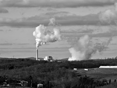 taking a long view of Longview (photography_isn't_terrorism) Tags: powerstation powerplant longview bw wv westvirginia