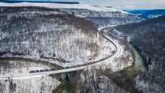 Big Viaduct (benpsut) Tags: drone dji conemaughriver emdsd40e bigviaduct djimavic2pro mavic2pro photography photo ns viaduct mineralpoint trainsrailroad nspittsburghline ns6308 dronephotography ns63v