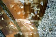 Nigel Hall (Jim Davies) Tags: doubles doubleexposure film alt analogue experimental wichita kansas usa uk veebotique kodak gold 200asa pentax espio canon at1 compact slr collaboration doubledealies serendepity accidental 35mm analog filmfilmforever accident mashup mystery oxford sculpture nigelhall