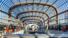 Amsterdam, Netherlands: Noord metro station, Line 52 (nabobswims) Tags: amsterdam el elevated hdr highdynamicrange hochbahn ilce6000 lightroom metro mirrorless nl nabob nabobswims netherlands noordholland photomatix rapidtransit sel18105g sonya6000 station