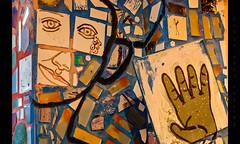 Detail (Whitney Lake) Tags: abstract art mosaic pennsylvania philadelphia themagicgarden mural ceramic