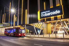 The Barcode (Ruvaneth Unys Photography.) Tags: enviro 200 barcode drake circus long exposure hdr stack 7 photos citybus plymouth yellow zizzi 14 derriford hospital blue led stagecoach bretonside old bus station exeter street viaduct city centre canon 80d road building architecture