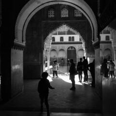 Alhambra social life mirrored (kong niffe) Tags: alhambra granada españa spain spania moors moorish muslim islam art palace stukkatur stucco plaster mirrored