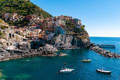 View of Manarola from the seaside promenade, Cinque Terre