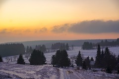 Misty sunrise (A.K. 90) Tags: cloudssunsetsstormssunrise sunrise lightandshadows morning misty mist fog foggy trees bäume nature natur landscape landschaft thüringerwald wald forest woods thuringianforest thuringia thüringen earth welt world orangeredyellow sonnenaufgang snow winter cold outdoor outside sonyalpha6300 e18135mm3556oss