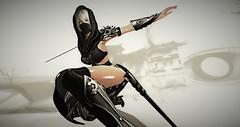 @Darkness (maho.R) Tags: darkness fabia lemporiopl cosplay costume sexy fantagy assassin secondlife blog fashion sword