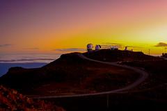 Looking toward deep space. (Notkalvin) Tags: haleakalā haleakala maui hawaii volcano mikekline notkalvin top night evening sunset highup windingroad travel traveldestination outdoors nopeople observatories telescopes telescope deepspace