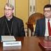 Firma convenzione Unipv, Diocesi e San Matteo