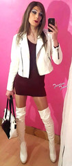 White Leather (jessicajane9) Tags: cd tgurl feminised xdress m2f travesti crossdresser trap femme crossdress tranny leather feminization transgender boots crossdressed tgirl gurl tv crossdressing trans femboi transvestite
