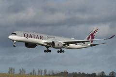 A7-ALU Airbus A350-941 EGPH 08-02-20 (MarkP51) Tags: a7alu airbus a350941 a350 qatarairways qr qtr airport edi egph scotland airliner aircraft plane image markp51 nikon d500 nikonafp70300fx sunshine sunny airplane