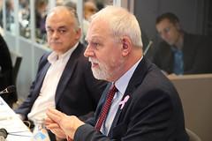 Jan Olbrycht podczas spotknia Prezydium Grupy EPL w Salzburgu