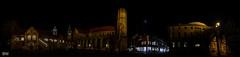 Burgplatz Panorama Braunschweig bei Nacht (Stefan Beckhusen) Tags: night nightshot nightlights panorama city town church dome cathedral braunschweig brunswick germany europe burgplatz ancient medieval buildings architecture citycenter illuminated cityscape panoramic
