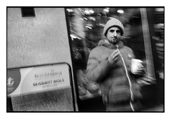 (Pulp_Picture) Tags: pulppicture analog leica majki warsaw warszawa analogphotography mocumentdiary minoltacle leicacle 27mm ilfordhp5 28mm leicam6 mp leicacl street poland hp5 streetphoto blur haze selfdeveloping dx11 ilford photostreet leicam blackandwhite bnw