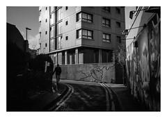 FILM - At the foot of the flats (fishyfish_arcade) Tags: 35mm analogphotography bw blackwhite blackandwhite canonsureshotmax delta400 filmphotography filmisnotdead istillshootfilm monochrome analogcamera compactcamera film ilford mono streetphotography