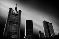 The Tallest Towers (lja_photo) Tags: frankfurtammain frankfurt hessen germany city cityscape life fineart fuji xt20 longexposure architecture architectural art artificial building buildings picturesque white europe exploration reflections travel tourism tower urban photography abstract sky street streetphotography shadows skyline dramatic detail light contrast clouds closeup view black blackandwhite bw bnw blackandwhitephoto backlight noperson monochrome monotone monoart moody modern design maintower commerzbank exposure evening reflection outdoors exterior close viewpoint