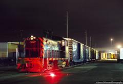 Playing in the Street (jamesbelmont) Tags: yardgoat locomotive railway railroad train flare fuse evening night timelapse nocturnal 5thwest downtown passengermain utah saltlakecity emdsw1200 230drag riogrande
