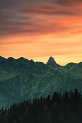 Last light of the day (>M.Vogel<) Tags: matterhorn wallis winter sunset mountain switzerland