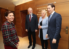 Jan Olbrycht i Sebastian Kurz podczas spotkania prezydium w Salzburgu