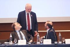 Jan Olbrycht z Manfredem Weberem oraz MartinemKamp