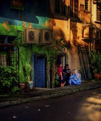 Evening Backstreet Meeting aka Socializing Malaysian Style (VERODAR) Tags: evening street backlane talking women houses oldhouses shophouses building nikon verodar veronicasridar