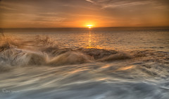 Unsettled (Through Bri`s Lens) Tags: sussex sunrise tide rocks waves swell sea beachphotography sun brianspicer canon5dmk3 canon1635f4