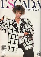 Escada 1986 (barbiescanner) Tags: vintage retro fashion 80s 80sfashions 1980s 1980sfashions 1986 escada