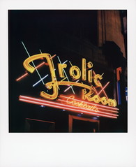 Frolic Room 2 (tobysx70) Tags: polaroid originals color sx70 instant film sx70sonar sonar frolic room hollywood blvd boulevard los angeles la california ca bar cocktails neon sign light illuminated lit night nocturnal yellow red toby hancock photography