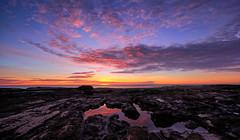 Spanish Seascape (Vest der ute) Tags: xt2 spain sea seascape landscape sunrise sky clouds rocks reflections morning fav25