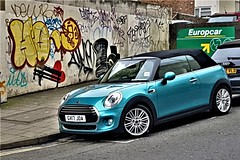 2017 Mini Convertible (ManOfYorkshire) Tags: mini convertible 2door brighton citycentre parked onstreet gv17joa 1499cc petrol 15l 15litre softtop