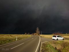 Sabine geht, die Sonne kommt! (!Koss) Tags: sturm orkan sabine weather ciara dark black clouds ford fiesta st st150 sun sunshine sonne sonnenschein kontrast contrast