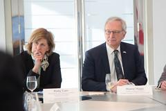 Canada's Premiers/les premiers ministres des provinces et territoires meet with/rencontrent Acting Ambassador/ambassadeur intérimaire Kirsten Hillman