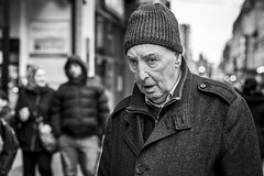 Weary (Leanne Boulton) Tags: street portrait urban eyecontact candid streetphotography streetportrait streetlife portraiture candidportrait candidstreetphotography candideyecontact old winter man cold male face hat eyes mood expression elderly feeling beanie detail texture bokeh depthoffield tone light outdoor naturallight shade life city people living humanity culture lifestyle scene human society uk blackandwhite bw white black monochrome canon mono scotland blackwhite glasgow 70mm canon5dmkiii ef2470mmf28liiusm
