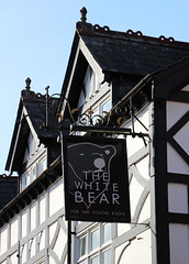 English Pub Sign - The White Bear, Nantwich (big_jeff_leo) Tags: sign design publichouse pubsign building oldbuilding timberframed crewe england english