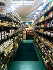 Market aisle, San Francisco, CA (J.H. McCann) Tags: market grocery store aisle food pantry staples cans jars storage
