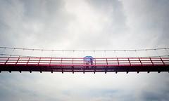 Bridge over Pagsanjan Falls, Philippines. (cfxvmlnn76) Tags: leica cl leicacl voigtlander kodak 21mm travel film 35mm ektar100