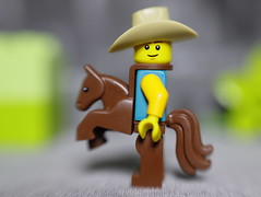 The Cowboy (DayBreak.Images) Tags: tabletop toy lego miniature cowboy canondslr lensbabysol45 extensiontube ringlight