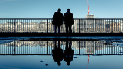 Two By Two (Sean Batten) Tags: london england unitedkingdom southbank candid people reflection water fujifilm x100f city urban thethames street streetphotography