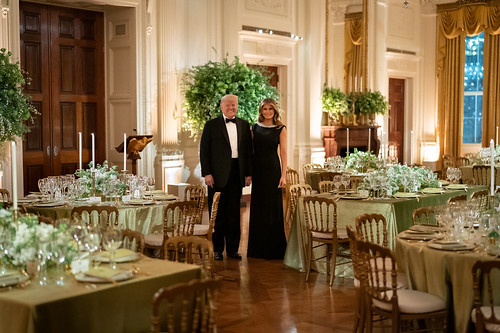 President Trump and First Lady Melania T by The White House, on Flickr