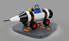 Rocket Rover (David Roberts 01341) Tags: lego ldd rover rocket space spaceman febrovery noveltytoy mecabricks render classicspace
