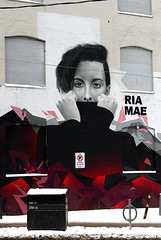 Ria Mae (Anthony Mark Images) Tags: litterbox snow riamae canadiansinger songwriter novascotian wallmural painting redandblack blackturtleneck boardedwindows building dundasst toronto ontario canada riamacnutt portrait people nikon d850 flickrclickx woman