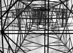 Classic (Ernst-Jan de Vries) Tags: id11 d76 12 zwartwit blackwhite monochrome mamiya m656 mediumformat mittelformat middenformaat film analoog analogue analog scan epson4490 negative negatief 120 645 filmisnotdead ishootfilm steel construction pylon power electricity outdoor industrial