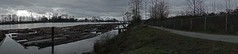 Rain's a Comin' (D70) Tags: northarm fraserriver riverdistrict vancouver britishcolumbia canada rainsacomin panorama log booms