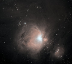 M42 Orion Nebula HHOO (Roger Hutchinson) Tags: deepsky nebula ts65quad asi1600mmpro zwo messier42 m42 orionnebula orion space london astronomy astrophotography moon
